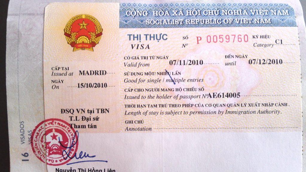 виза паспорт
