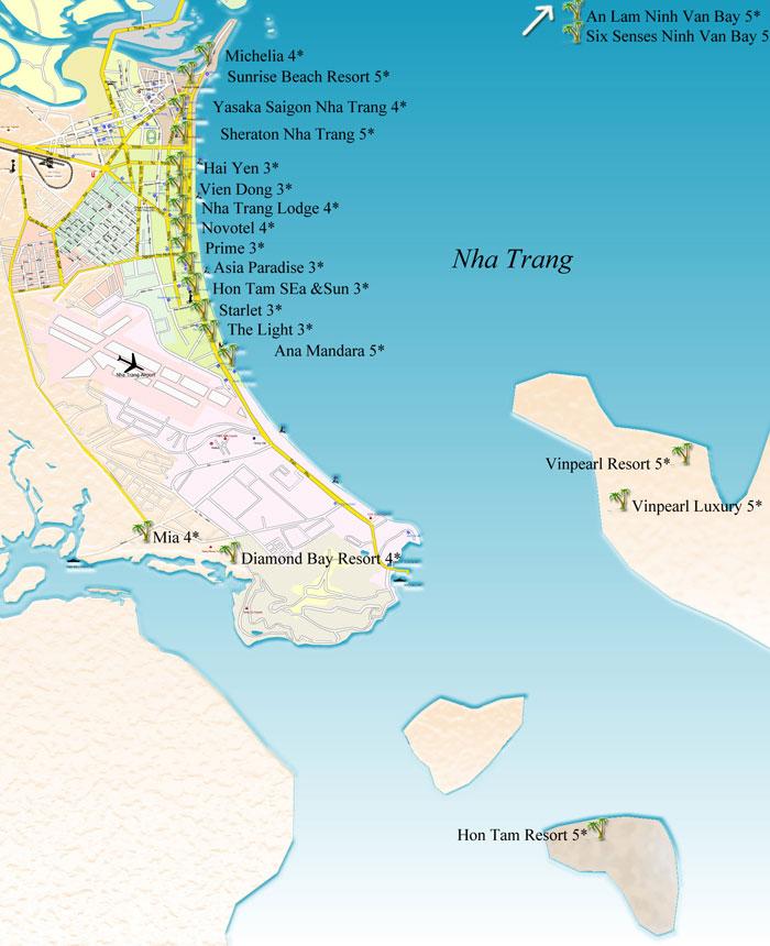 карта нячанг